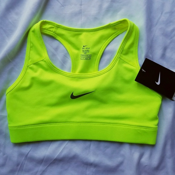 c367accdcb35d Neon Yellow Nike Sports Bra NWT